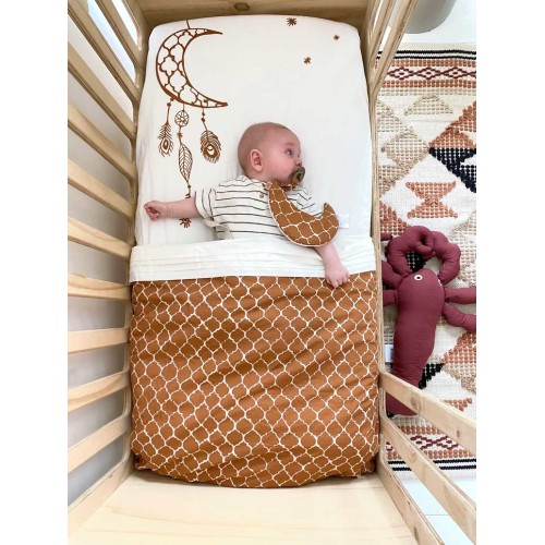 Witlof for kids hoeslaken 70x145 Once upon a dream hazel brown-offwhite
