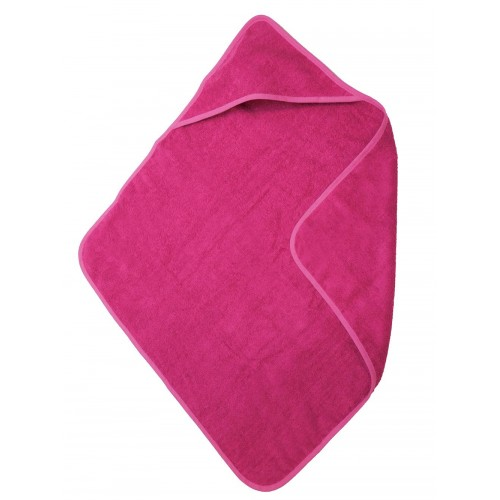 Babycape / handdoek fuchsia (75x75cm)