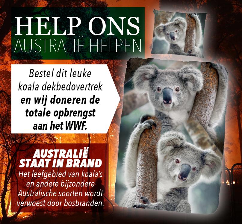 Koala dekbedovertrek voor Australie
