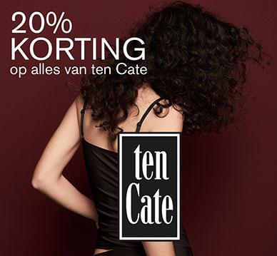 20% korting op alles van Ten Cate