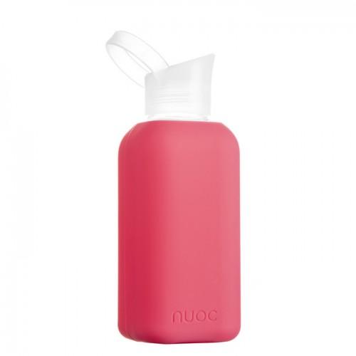 Nuoc Essential drinkfles Flamingo (glas + siliconen hoes)
