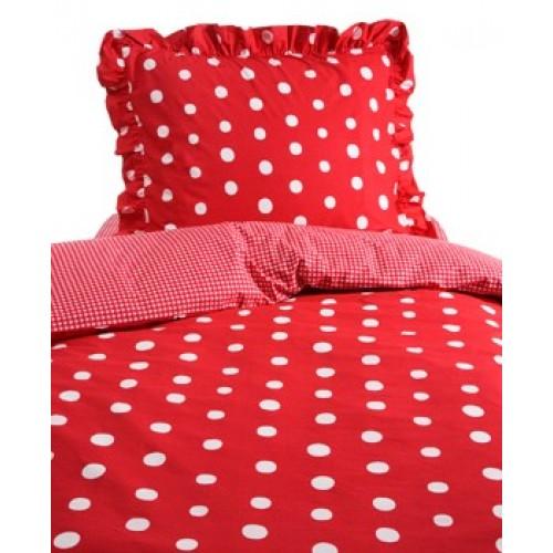 Damai dekbedovertrek Dotty Spotty (rood)