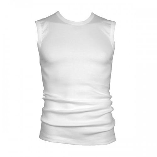 Beeren mouwloos shirt extra lang (wit)