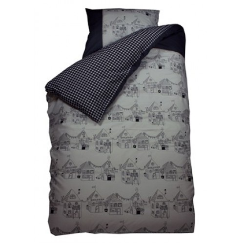 Bink Bedding dekbedovertrek Home Sweet Home grijs