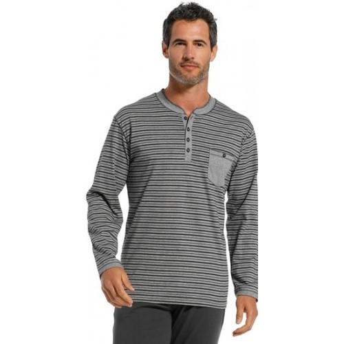 Pastunette pyjama shirt lange mouw (grey, 4399-627-4)