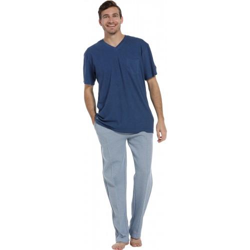 Pastunette pyjama shirt korte mouw (blue, 4399-606-2)