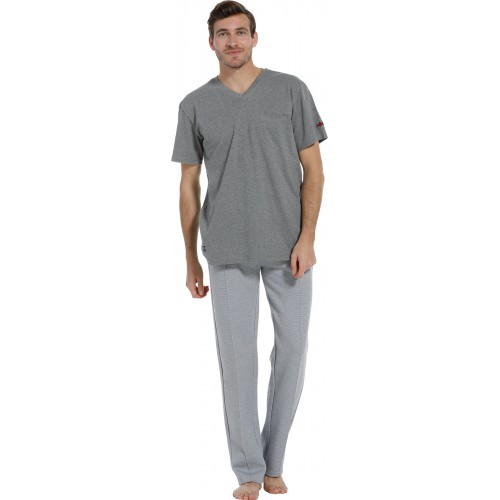 Pastunette pyjama shirt korte mouw (grey, 4399-606-2)