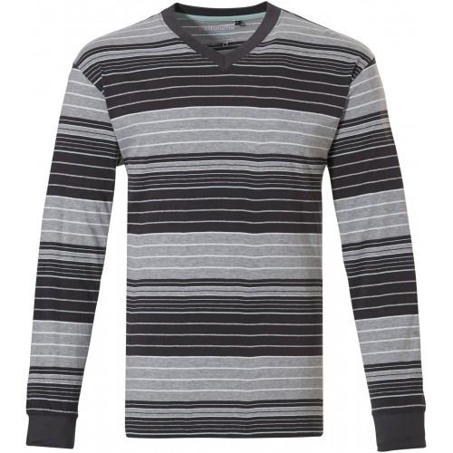 Pastunette pyjama shirt korte mouw (grey, 4399-622-2)