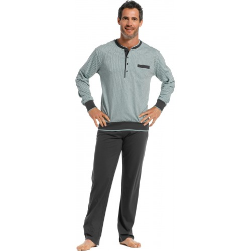 Pastunette pyjama shirt lange mouw (light green, 4399-628-4)
