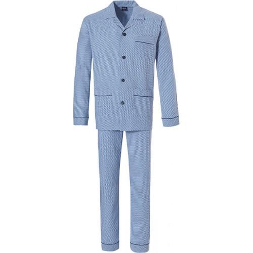 Robson flanellen doorknoop pyjama (lightblue, 27192-700)