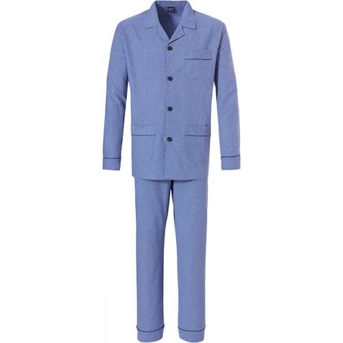 Robson flanellen doorknoop pyjama (cornflowerblue, 27192-700)