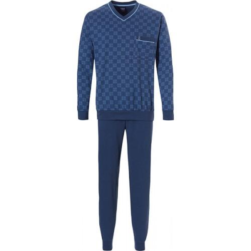 Robson tricot pyjama met boordjes (navy, 27192-703-2)