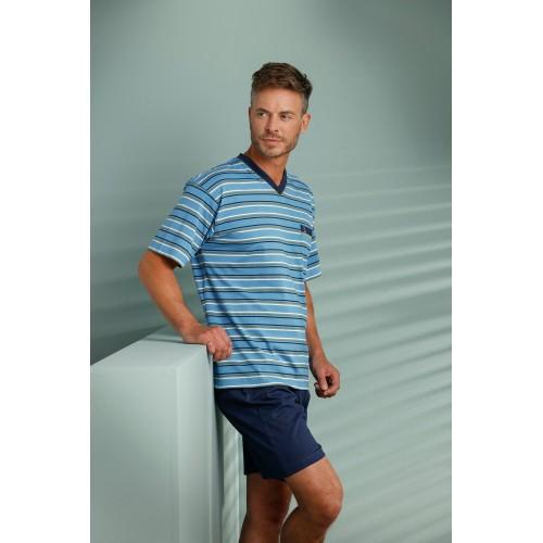 Robson tricot shortama (lichtblauw, 37201-707-2)