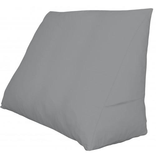 Polydaun bed zitkussen + kussenhoes (60x50x30cm, grijs)