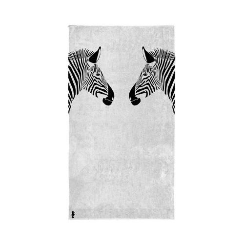 Seahorse strandlaken Zebra (white, 100x180cm)