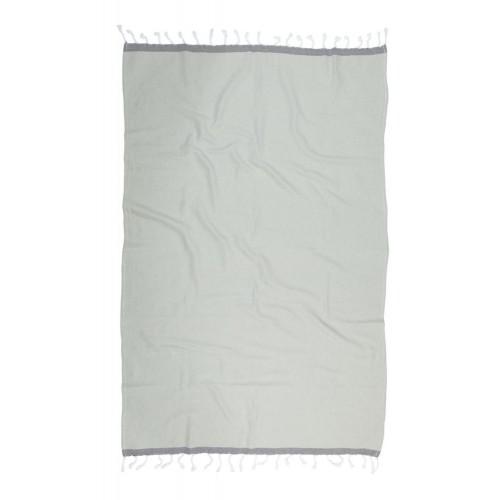 Kayori hamamdoek Izu (zilvergrijs/antraciet, 100x180cm)