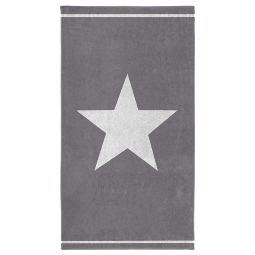 Seahorse strandlaken Stars (grijs, 100x180cm)